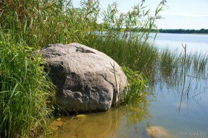 камень на озере Осиновка